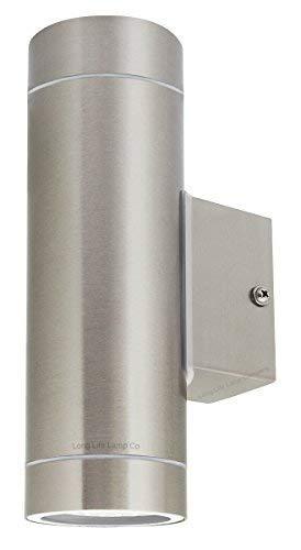 Zenon Long Life Lamp Company wandlamp voor buiten, IP65, roestvrij staal, 4 stuks