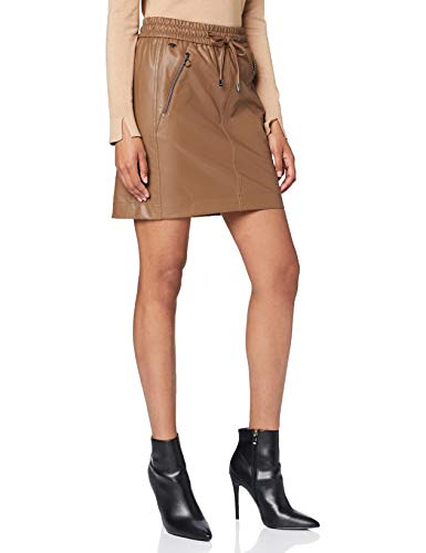 Street One Damen 360700 Beschichteter Minirock im Style Happy Rock, Poly Camel, 40