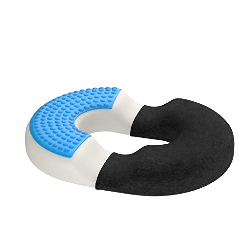 bonmedico Orthopedic haemorrhoids seat cushion with innovative gel-layer, doughnut cushion for pain relief including coccyx pain. For car seat, home, office or wheelchair, Normal