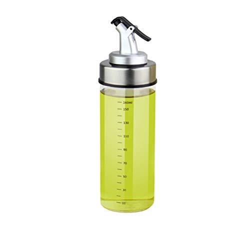 ZZM Distributeur d'huile d'olive, bouteille en verre pour vinaigrette, vinaigre, sauce soja (180 ml)