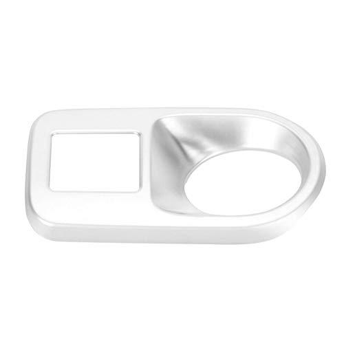 LIZCX YAOQIHAI Ajuste para Porsche- Cayenne 2018-2019 Mano Izquierda Mano Interior Coche Interior Plata Faro del Interruptor de Marco Accesorios de Ajuste (Color Name : Silver)
