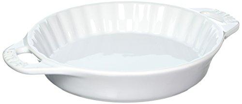 STAUB Ceramics Bakeware-Pie-Pans Dish, 9-inch, White
