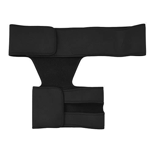 Growcolor Oberschenkelstütze Muskelverspannungspräventionsgürtel Sportschutz Atmungsaktive Unisex-Hüftstütze für die Hüftstütze
