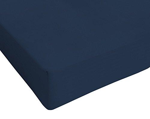 Italian Bed Linen Max Color Lenzuolo Sotto Matrimoniale King Size, 100% Cotone, Blu scuro, 2 Posti Maxy