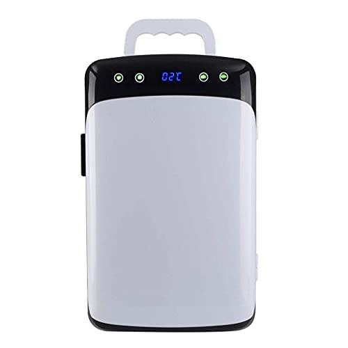 Pkfinrd Mini Fridge 12 L Mini Nevera, CA/DC Coche y casero Dual-Uso con termostato Digital Refrigeración de Doble núcleo para el hogar, Oficina, automóvil, Dormitorio o Barco