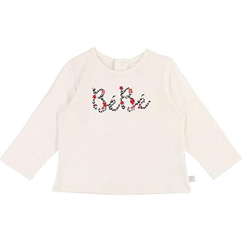 CARREMENT BEAU T-Shirt en Coton Fantaisie Bebe Couche OFFWHITE 12MOIS