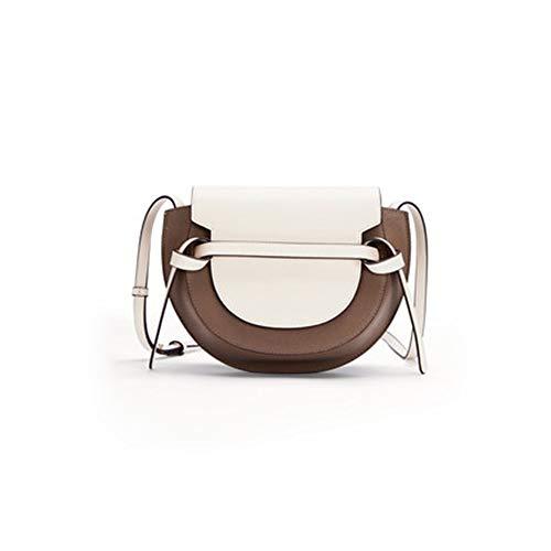 Yaunli Damen Umhängetasche Jugend Freizeit Satteltasche Kontrast-Farbe-weibliche Schulter Messenger Bag Eine Umhängetasche (Farbe : B, Size : 24.5x18x9.5cm)