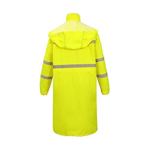 SHOP YJX Langer reflektierender Regenmantel Wasserdichter Outdoor-Poncho (gelb/schwarz /) (Color : Yellow, Size : 5XL)