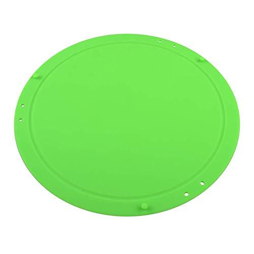 HoaJeo Silicona para Picar Tabla de Cortar Redondo Plegable Multifunción Flexible Herramienta para Cocina Hogar - Verde
