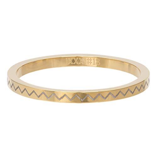 iXXXi Füllring HEARTBEAT gold - 2 mm Größe Ringgröße 17