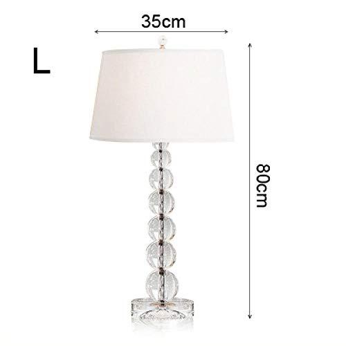 Lámpara de mesa de cristal simple y lujosa, dormitorio de noche, sala de estar, lámpara de mesa decorativa creativa moderna de gran tamaño