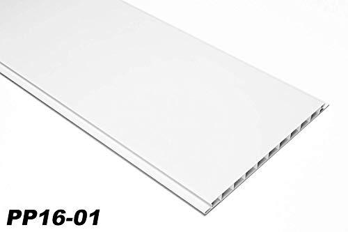 1 qm | Paneele | Wandverkleidung | Auswahl | 200x16cm | HEXIM | PP16-01 weiß