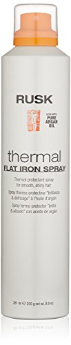 RUSK Designer Collection Thermal Flat Iron Spray with Argan Oil, 8.8 fl. Oz, Thermal Protectant Micro-Fine Styling Spray, Formulated to Eliminate Frizz and Leave Hair Silky and Shiny