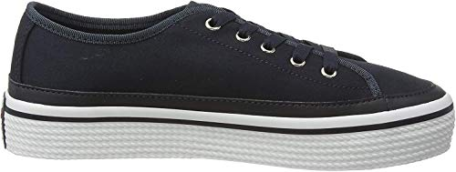 Tommy Hilfiger Damen Corporate Flatform Sneaker, Blau (Midnight 403), 39 EU