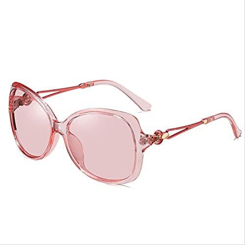 ODNJEMSD Gafas De Mujer Polarizadas Que Cambian De Color, Gafas De Sol De Moda con Incrustaciones De Diamantes, Gafas De Sol De Montura Grande para Mujer
