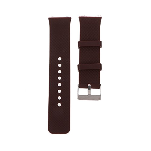 MEIYIN Silicone Wrist Band Strap Metal Buckle Bracelet Replacement for DZ09 Smart Watch