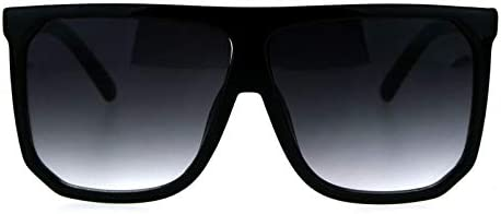 Oversized Style Sunglasses Flat Top Square Unisex Modern Fashion UV400 All Matte product image