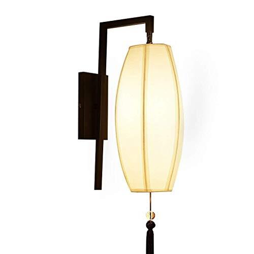 Väggstål pålitlig nattrum hall utomhus sängbordslampa sovrum-vägg-mode kundservice köp hjälp järn, tyg 60 x 30 cm väggbelysning