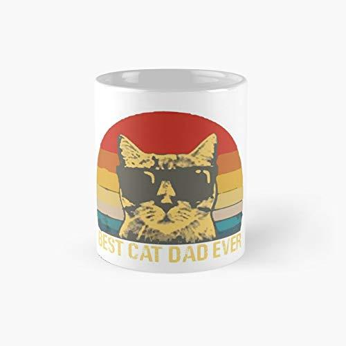 Taza clásica con diseño de «Best Cat Dad Ever Sunset Padres» y «Best Cat Dad Ever Sunset Fathers