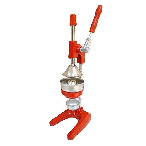 Uzman-Versand Exprimidor profesional de naranja en rojo, exprimidor de hierro fundido y acero inoxidable, exprimidor, naranja, granada, zumo de cítricos, utensilio de cocina exprimidor de nara