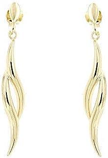forme di Lucchetta per Donna - Orecchini a lobo in Oro Giallo pendenti - Made in Italy Certificato, BR1321