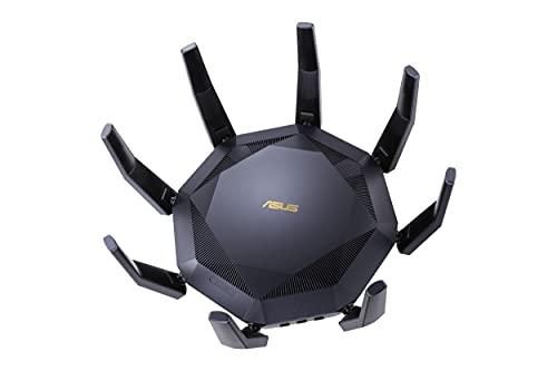 ASUS RT-AX89X - Routeur Wi-Fi 6 Gaming AX 6000 Mbps, 12 streams, Double Bande OFDMA et MU-MIMO, sécurité AiProtection Pro, technologie AiMesh, accélérateur de jeux WTFast® et Adaptative QoS