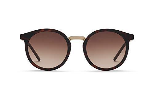 TAKE A SHOT - Nachhaltige Sonnenbrille für Damen mit Bio-TR90-Rahmen und Edelstahl Bügeln, UV400 Schutz, Rückentspiegelte Gläser, Leonie Havanna