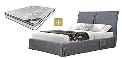 Esta cama está hecha de multipli, acolchada de lino. El revestimiento de tela de lino aporta un aspecto cálido y elegante, y dará a la habitación el encanto que se merece.