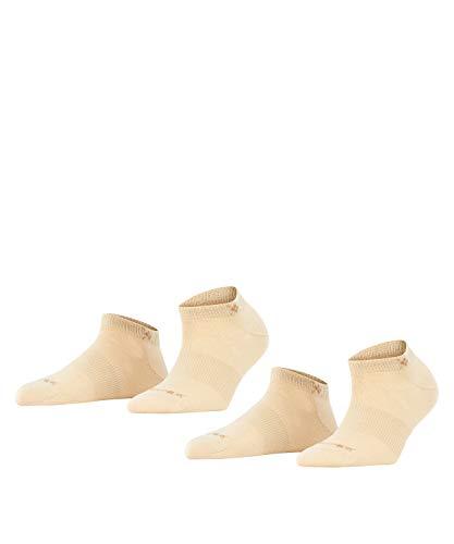 BURLINGTON Damen Sneakersocken Everyday 2-Pack - Baumwollmischung, 2 Paar, Beige (Sandstone 4024), Größe: 36-41