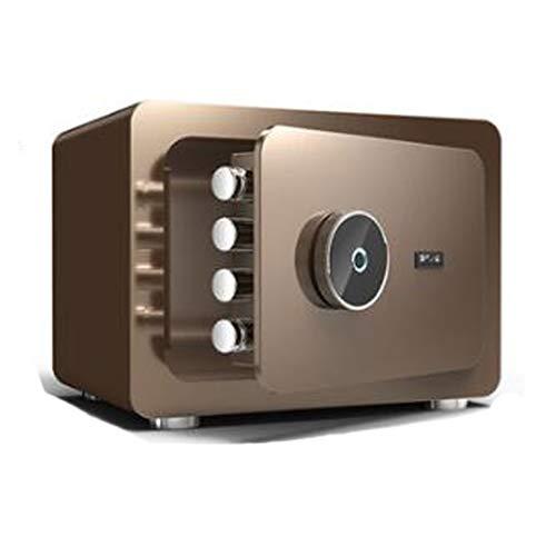 Steel Brandkast van het Huis, een beveiligde elektronische digitale kluis, Protect geld, sieraden, paspoorten Beveiliging Kluis voor kantoor aan huis hotel,Brown