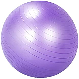 YxlAB Yoga Ball, Thickened Explosion-proof Exercise Fitness Pregnant Woman Midwifery Weight Loss Balance Childbirth Ball (Color  PURPLE, Size  55CM):Interoot
