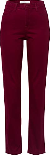 BRAX Damen Style Carola Winter Dream Five-Pocket-Hose in winterlicher Qualität Straight Fit, Violett (Cranberry 82), 42 Lang