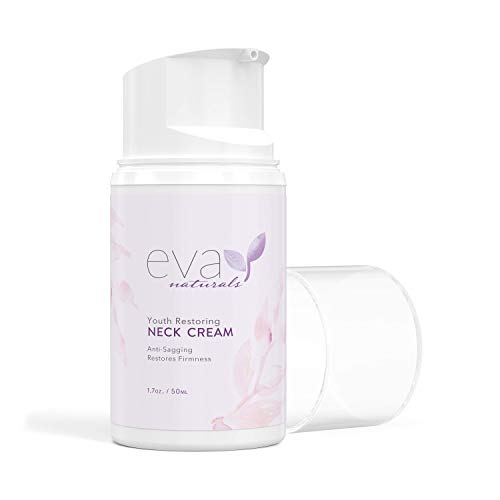 Neck Firming Cream by Eva Naturals (1.7 oz) Airless Pump - Firming Lotion for Sagging Neck, Face, and Décolleté - Fights Wrinkles and Promotes Elasticity and Youthful Skin - With Vitamin C