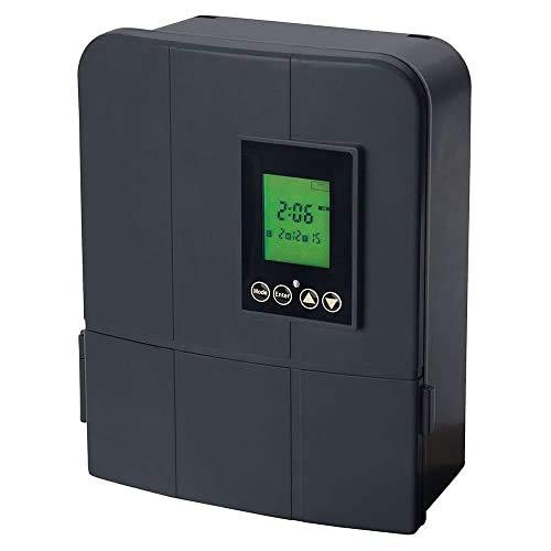 Sterno Home GL33200 12V 200W Low Voltage Landscape Lighting Transformer with Dusk-to-Dawn Timer, 12V/200W, Grey