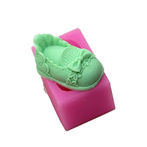 ZIUKENR Molde de vela de zapatos, molde de jabón, molde de silicona para bricolaje, molde de jabón, zapatos 3D de arco