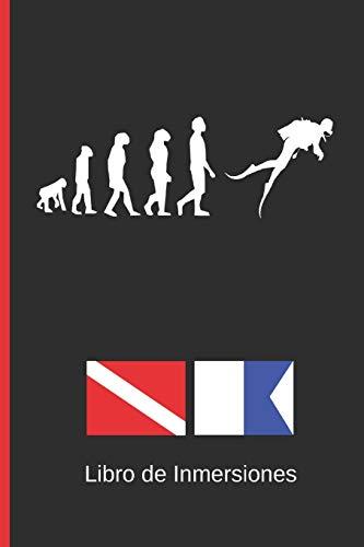 LIBRO DE INMERSIONES: DIVE LOG | CUADERNO DE REGISTRO DETALLADO PARA BUCEADORES | HASTA 120 INMERSIONES | SUBMARINISMO. BUCEO. Diseño Evolución.