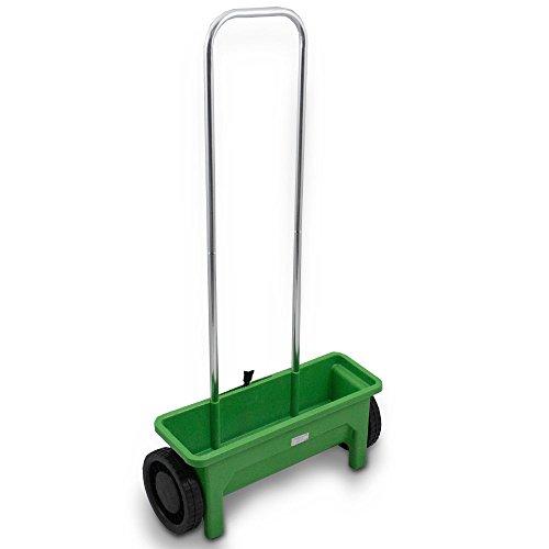 BITUXX® Streuwagen Streugerät Universalstreuer Streusalz Salz Gras Rasen Dünger Saat Saatgut Garten Düngerstreuer universal 12L