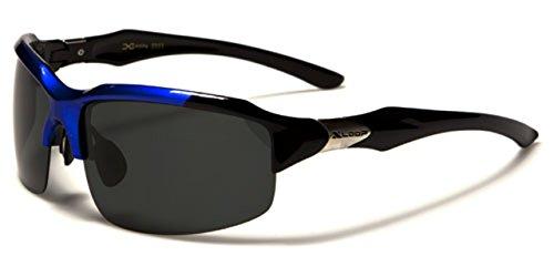 X-Loop - Gafas de sol - para hombre Negro Blue & black frame with smoke lens