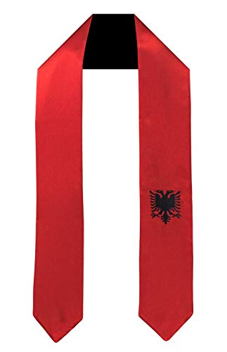 Albania Flag Graduation Sash/Stole International Study Abroad Adult Unisex