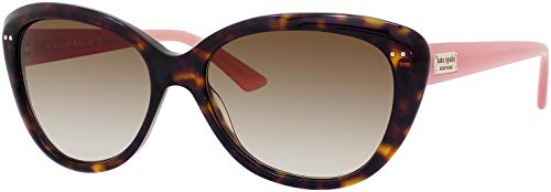 Kate Spade Angelique 0JUH/Y6 55M Tortoise Blush/Brown Gradient Butterfly Sunglasses for Women+FREE Complimentary Eyewear Kit