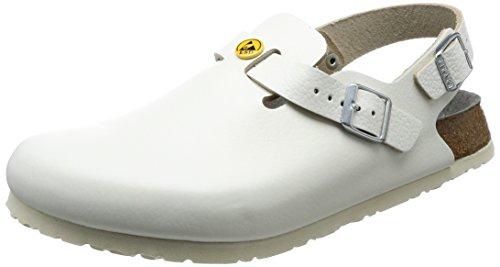 Birkenstock 61410-44-normales Schuh TOKIO Antistatik/Naturleder normales Fußbett, Weiß, Größe 44