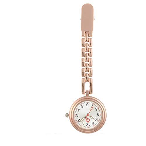BTTNW Reloj De Bolsillo Enfermera Enfermera de Mesa Colgantes Clip Reloj cronómetro Pecho Examen con el Colgante de la Tabla Letras Masculino Enfermera Reloj de Bolsillo Digital