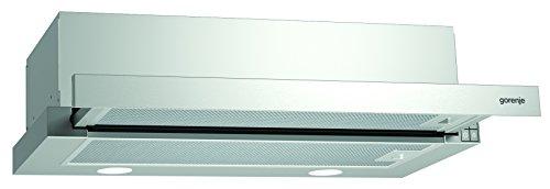 Gorenje BHP 623 E11X Flachschirmhaube/ 60 cm/AB- oder Umluftbetrieb möglich/Anti-Fingerprint-Beschichtung, Edelstahl