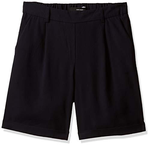VERO MODA Damen Chino Hose Kurze Stoffhose Bermuda Sweatshort, Farbe:Blau, Größe:38