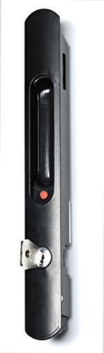 864262N Cierre lateral embutido con cerradura, negro