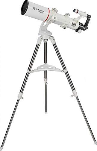 Bresser Messier AR-102/600 Nano AZ - Telescopio Refractor con Montaje azimutal y trípode de Acero Inoxidable