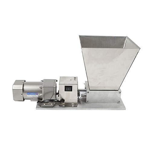 Electric Malt Crusher, 5kg Capacity Hopper 2 Rollers Stainless Steel Barley Grinder Grain Mill 75rpm 40W for Homebrew