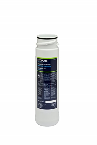 EcoPure ECOROM Reverse Osmosis Under Sink Replacement Water Membrane | NSF Certified | Fits Ecop30 System | 1-3-Year Filter Life, 0.9