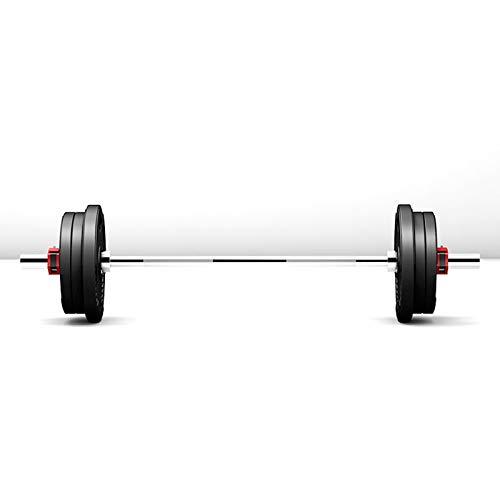 Placa de contrapeso Juego de levantamiento de pesas de barra olímpica, kit de placas de levantamiento de pesas de fitness de 20 kg, barra de barra olímpica estándar de 1.2M, placas de peso de 4 * 2.5
