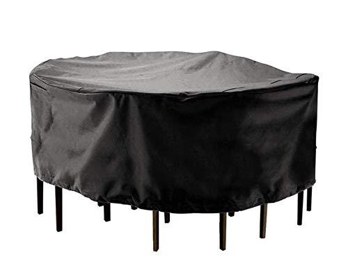 KNDJSPR Fundas para Muebles de Exterior, Impermeables, Resistentes a los Rayos UV, Anti-decoloración, 210D, Protectores de jardín de Tela Oxford, Funda Redonda para Mesa de Patio